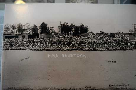 HMS Nabstock service personnel at the Maryborough Aerodrome in March 1945. Do you know anyone in this photo or have any information relating to this era?
