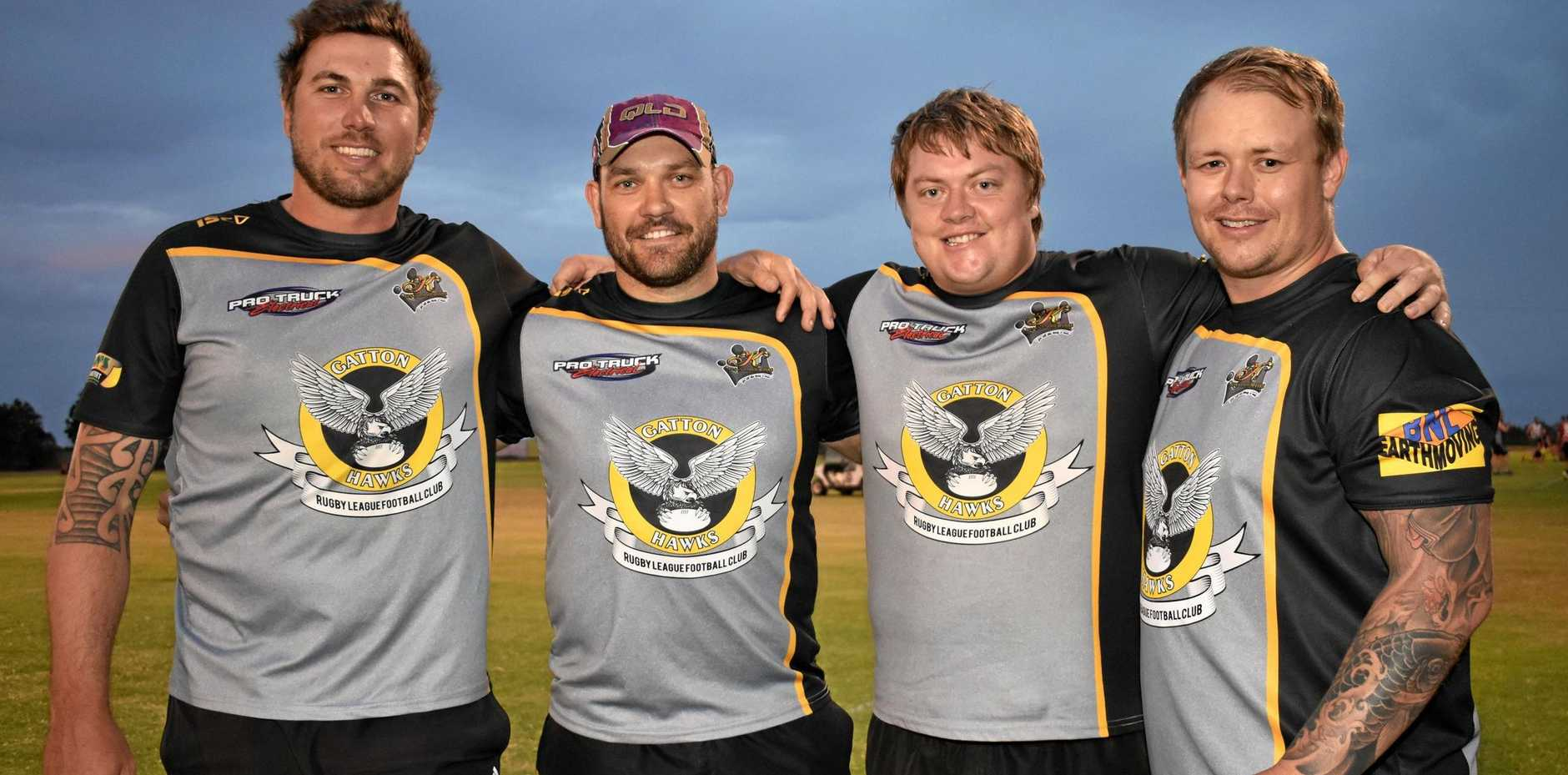 TOP TEAM: Gatton's most senior Hawks Scott Cubit, Michael Frohloff, Dom Haak and Mark Swan are ready for the new season.