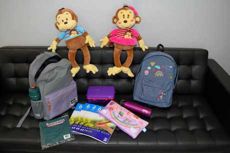 Backpacks filled with stationery, lunch boxes, water bottles and a cuddly monkey were donated to students at Albert State School by the Rotary Club of Maryborough Sunrise.