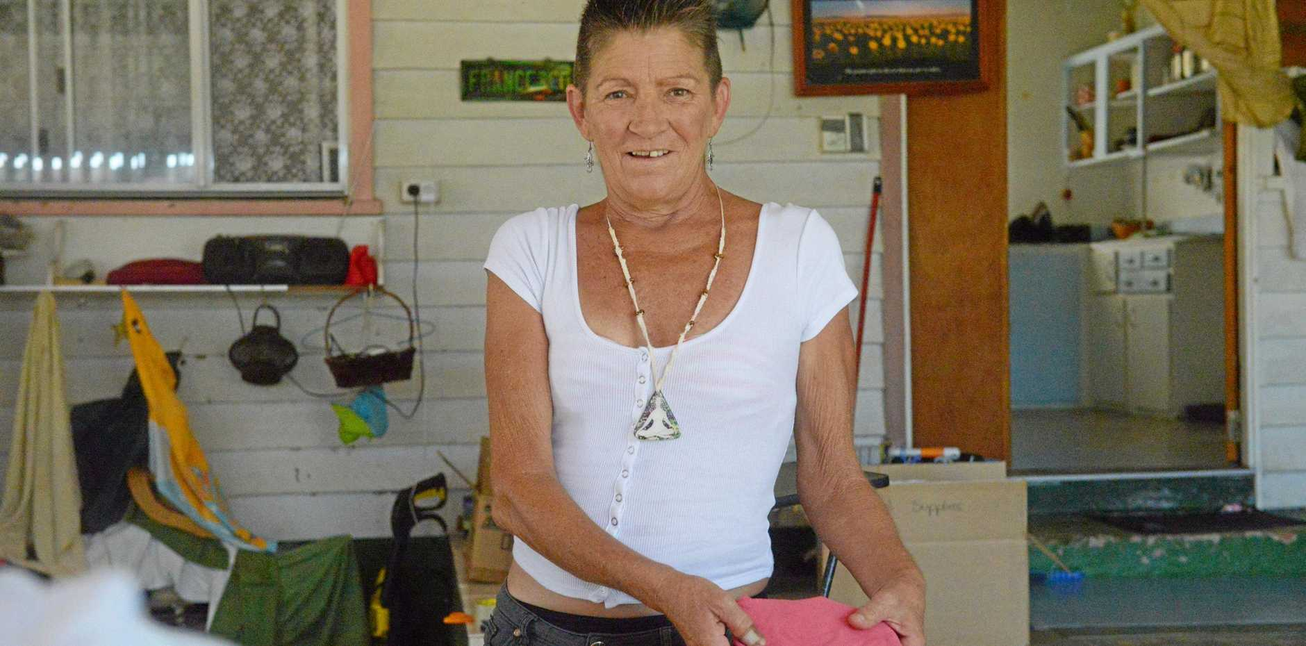 FLOOD HERO: Wendy Hughes has opened her heart and is collecting donations for people doing it tough after the Townsville floods.