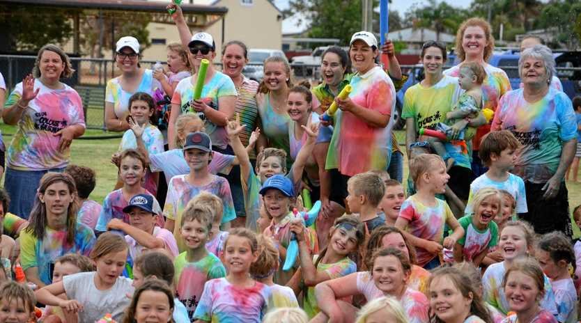 RAINBOW FUN: Charleville School of Distance Education Kickstart Conference colourful ending.