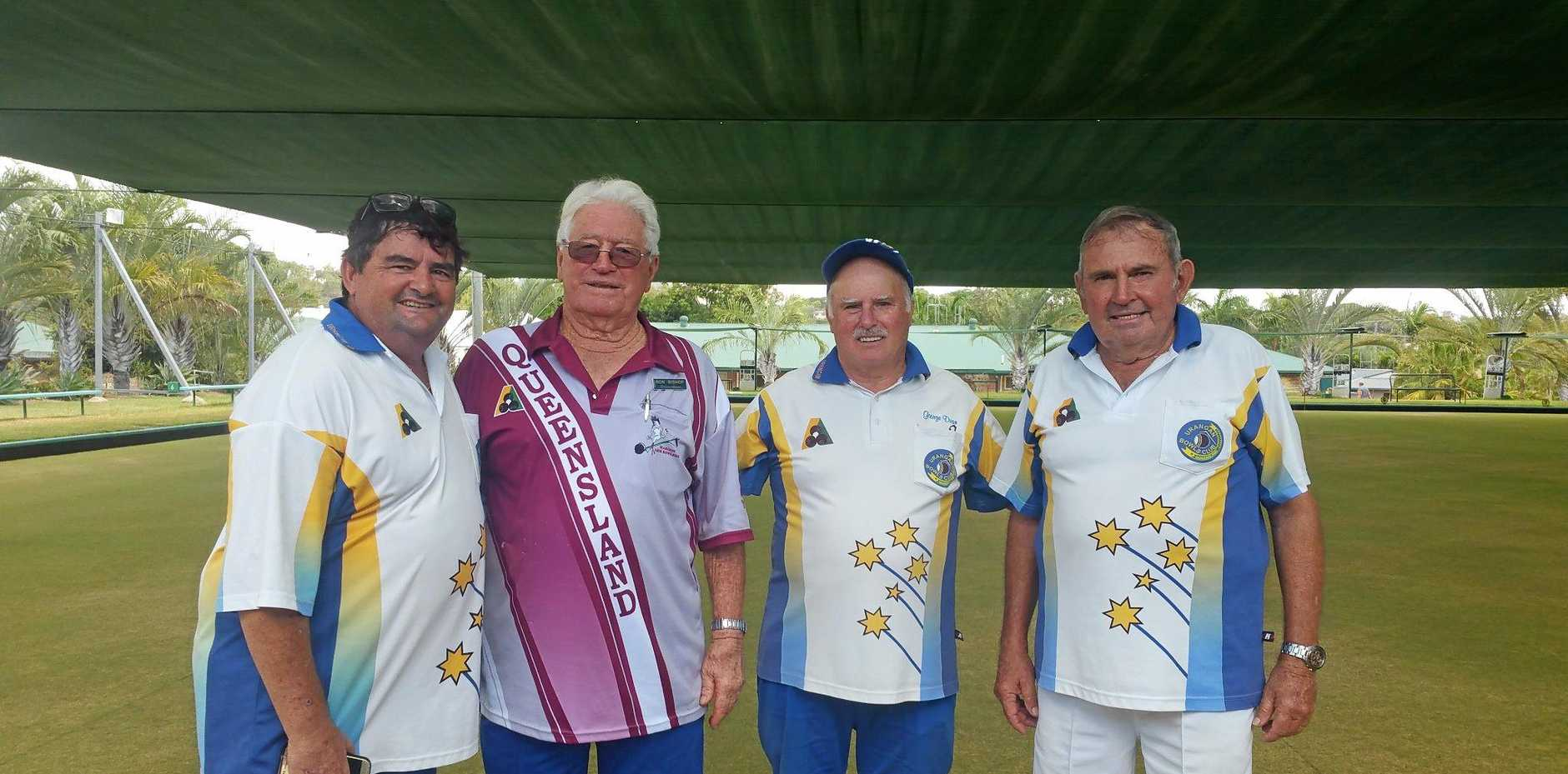 Tony Smith, Ron Bishop, George Dean and Barry Tryhorn took out the Gayndah 2019 Men's Four Tournament with a clean sweep.