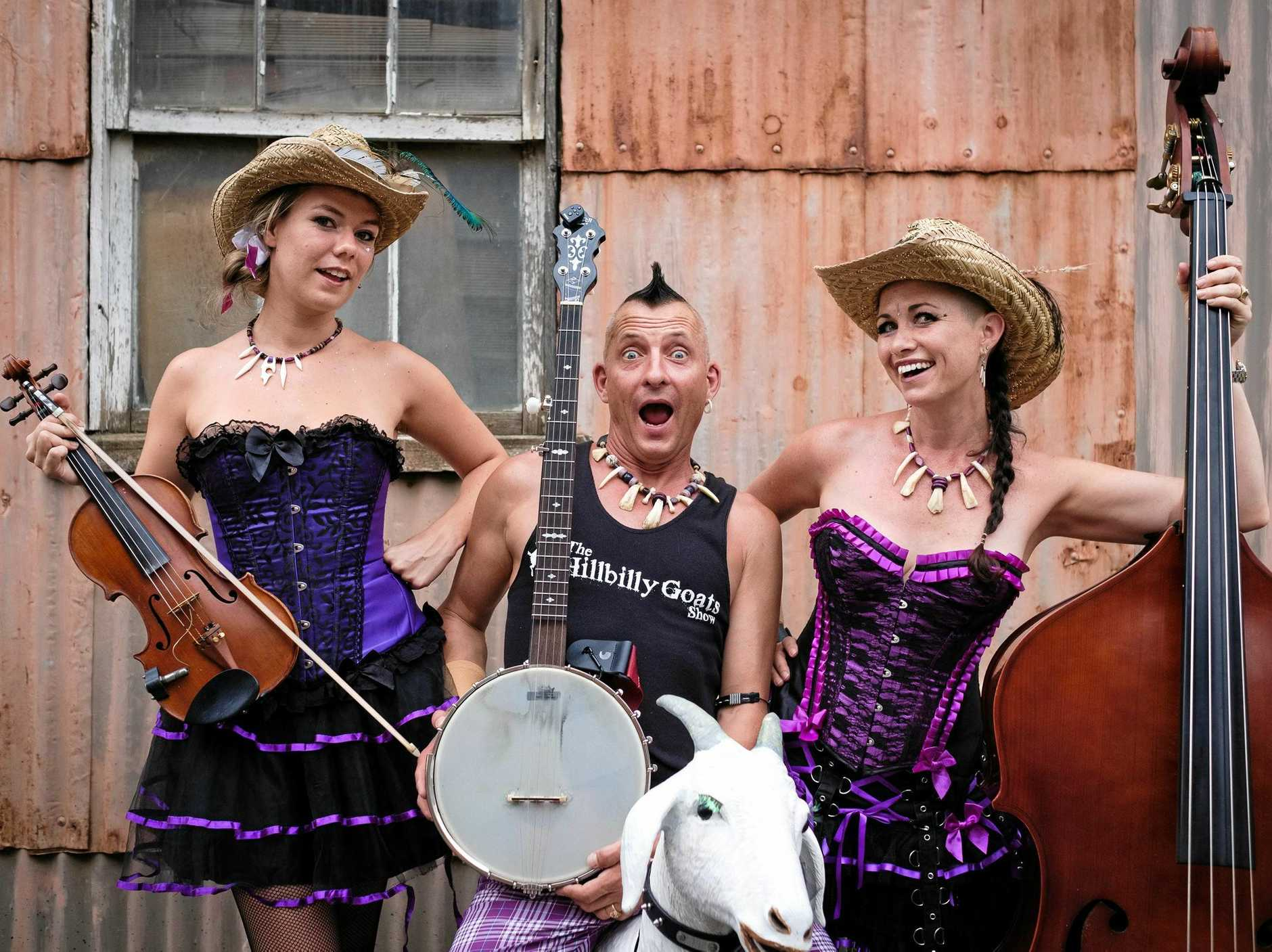 The Hillbilly Goats are performing at Sound Feast this month in Noosa.