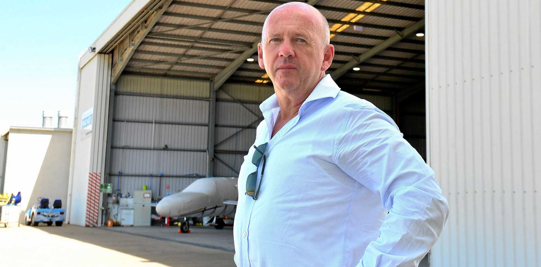 SHUT OUT: Freight Centre managing director Joe McAlinden has been denied a place on the Sunshine Coast Airport Community and Aviation Forum.