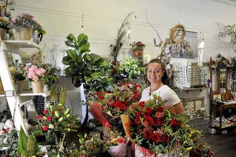 READY: Flowers by Bonnie owner Bonnie McGowan is prepared for this year's Valentine's Day.