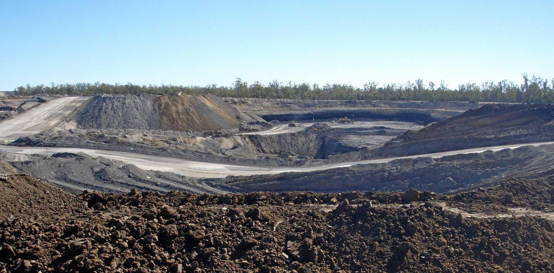 Wilkie Creek Coal Mine A Pit, looking north, 2008.