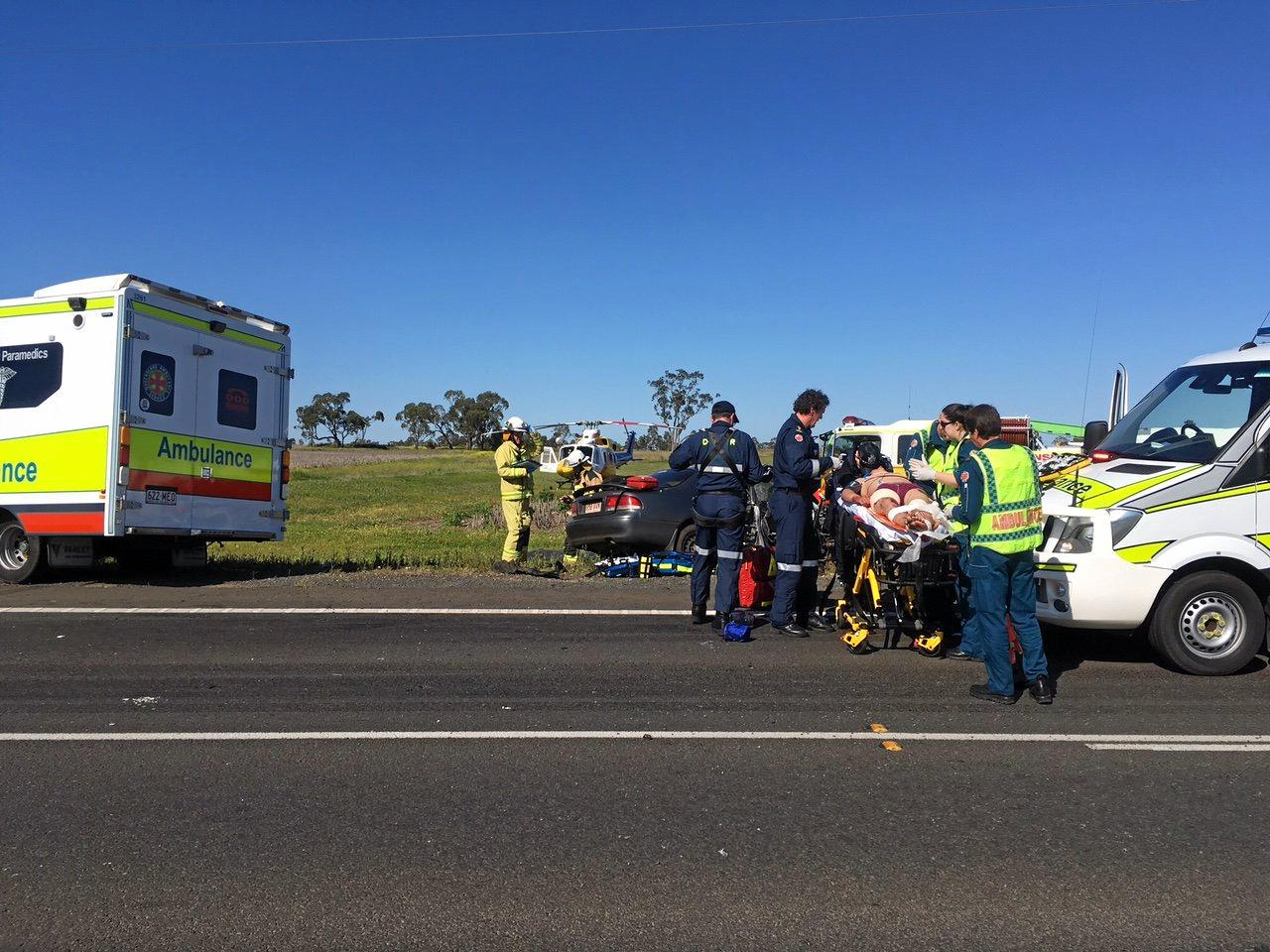 Mr Bartowski says he'll never forget what he saw after the horror crash on the Warrego Highway.