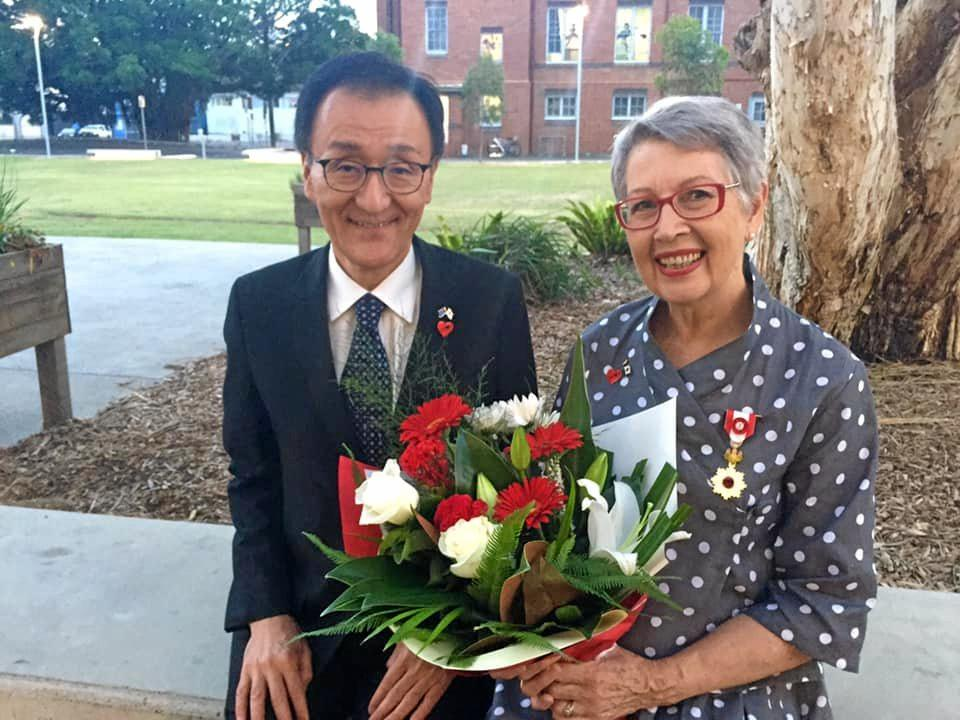 HONOURED: Former Lismore mayor Jenny Dowell has been conferred with the Order of the Rising Sun by the Japanese Consul-General in a ceremony on February 7.