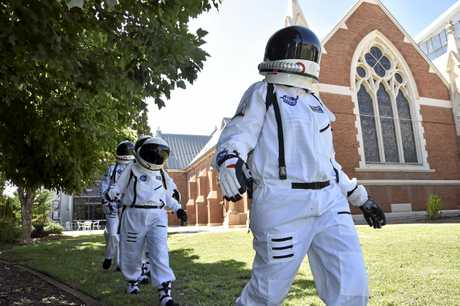 SPACE RACE: Astronauts flew into the Empire Theatre yesterday to launch Toowoomba's World Science Festival program.