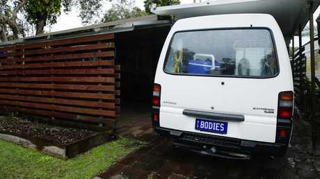 Ian Riggs' van had the number plate 'BODIES'.