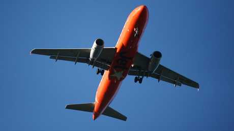 A Jetstar passenger jet plane. PICTURE: BRENDAN RADKE.