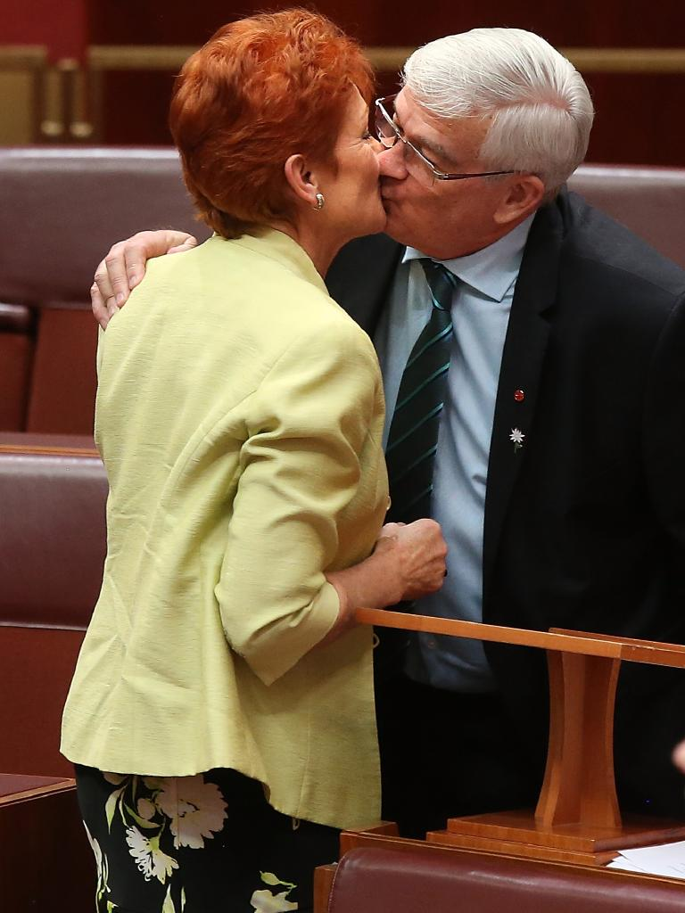 Mr Burston said Ms Hanson's unwanted advances were a factor in his decision to quit One Nation last year and join Mr Palmer's new party.