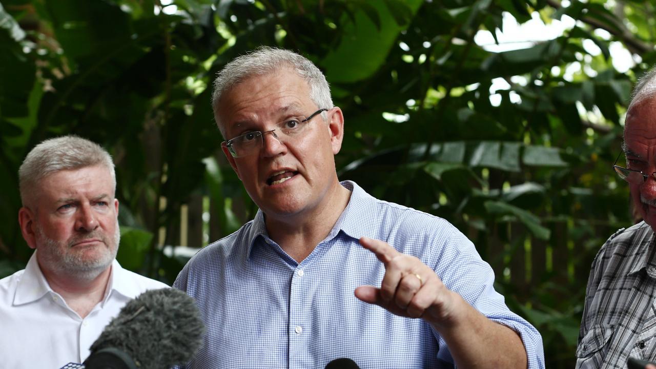 Prime Minister Scott Morrison announces federal government funding for the Cooktown 2020 festival. Picture: Brendan Radke