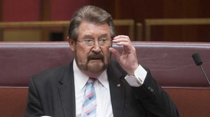 Independent Senator Derryn Hinch reacts during Senate Question Time. Picture: AAP