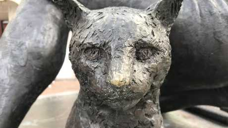 A statue of Matthew Flinders' cat, Trim. If we really want to make the latter day Endeavour journey more authentic, a feline should be on board. Picture: Bernard Humphreys