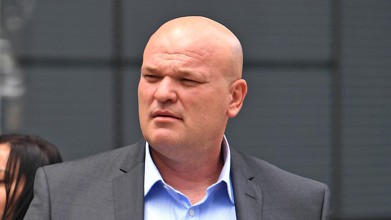 Drug kingpin Ivan Tesic durubg gus trial at Brisbane's Supreme Court. Picture: John Gass/AAP
