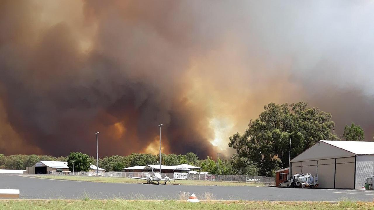 A view of bushfires as seen from Inverell Airport. Picture: Picture: Rob Rogers/NSW Rural Fire Service.