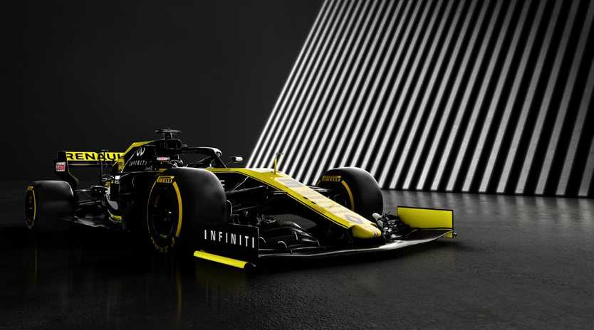 The 2019 Renault RS19 Formula 1 car that will be driven by Australian F1 star Daniel Ricciardo.