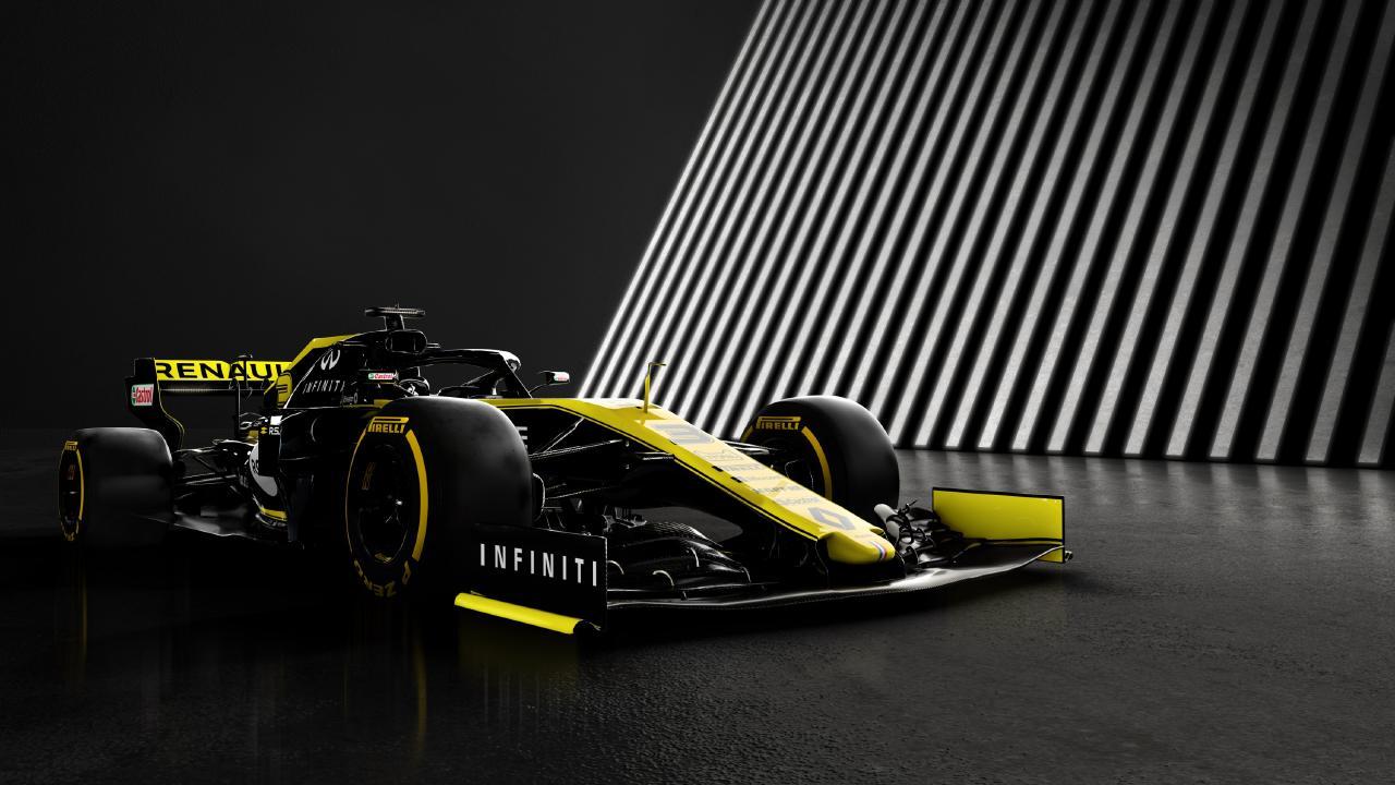 The 2019 Renault RS19 Formula 1 car that will be driven by Australian F1 star Daniel Ricciardo.