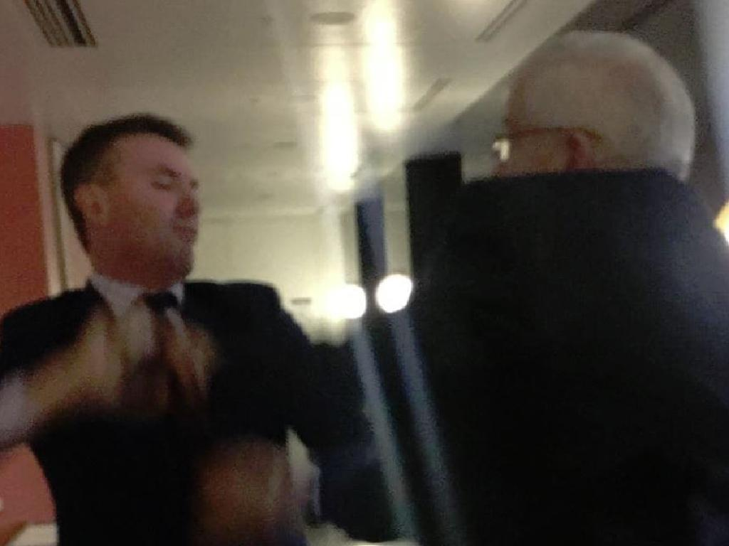 Things turned ugly between James Ashby and Brian Burston. Picture: Supplied