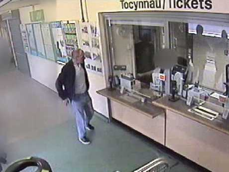 Gait was also seen on CCTV buying a train ticket hours before being stabbed to death.
