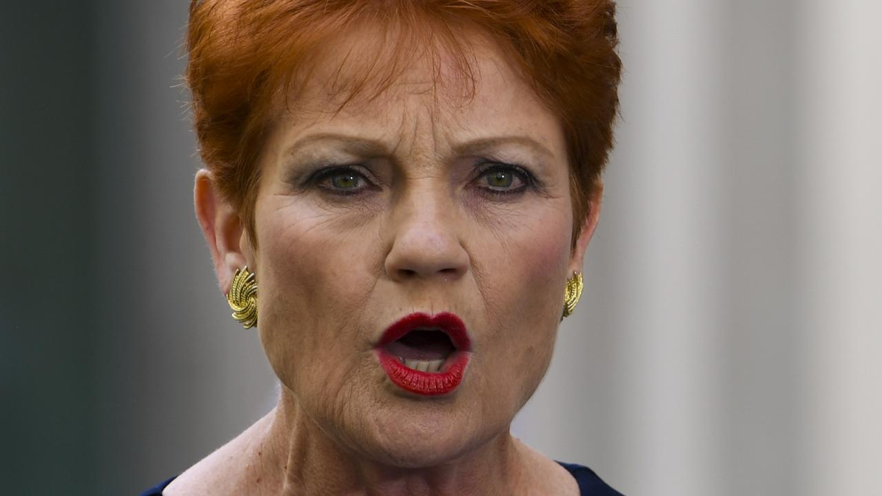 Pauline Hanson has used parliamentary privilege to accuse a married male senator of sexually harassing up to six of his staff. Picture: AAP