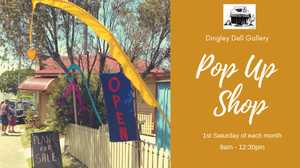 A monthly Pop Up Shop @ Dingley Dell Gallery showcasing local artists and their wares.