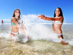 Enjoying the beaches of the Tweed Coast are Amy Van