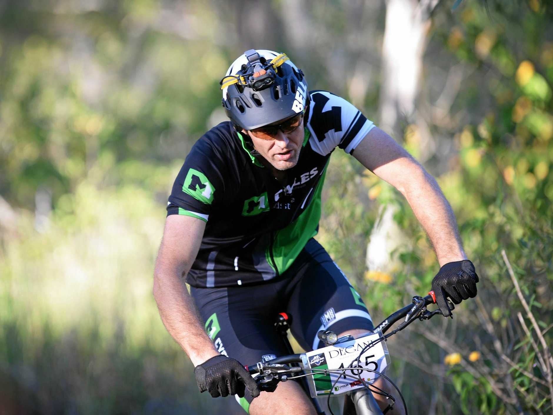 POWERING UP:   Grant Burkhardt will be among the Rockhampton riders taking on the three-hour cross country event at Seeonee Park on Saturday.