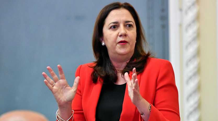 Premier Annastacia Palaszczuk has refused to answer questions about the controversial transfer of health and education contracts from one failed central Queensland builder to another related company that went broke two years later leaving hundreds of unsecured creditors owed millions of dollars.