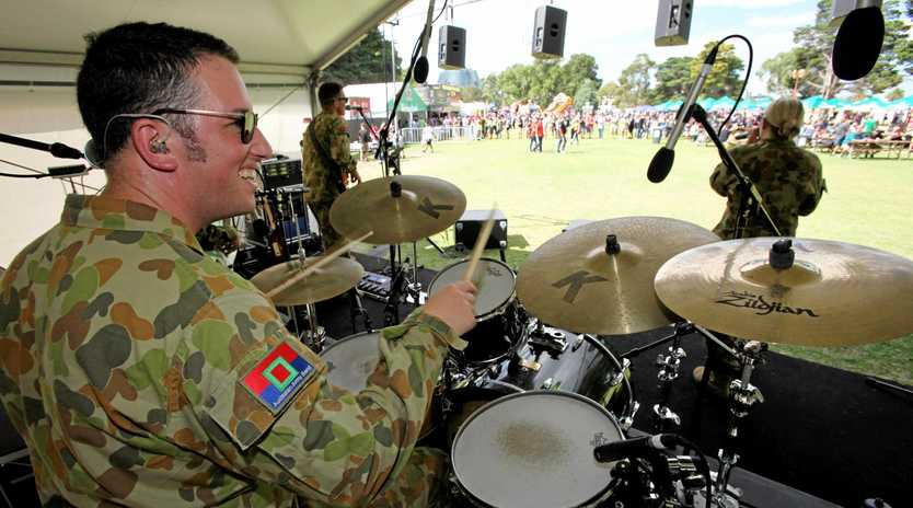 BUILDING MORALE: The Australian Army Band Melbourne at an event a few years ago.