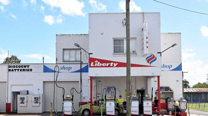 THE Liberty service station on Centre St in Casino where the alleged robbery took place.