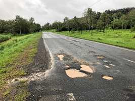 Road damage 'probably worse than Debbie'