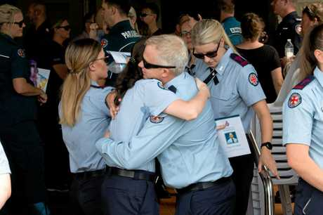 Family and friends of paramedic Craig McColluch, who was killed in a traffic incident on January 28, paid tribute to him during a public funeral in Mackay on Thursday.