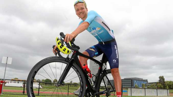 Pro Racing Sunshine Coast's (PRSC) only Paralympian Alistair Donohoe made his first visit to the Sunshine Coast on Thursday fresh from an encouraging performance in the Queen Stage of the Herald Sun Tour last week.