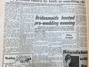 'Something old' brings wedding memories from 46 years ago