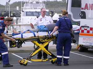 Injured sailor on yacht