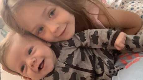 Heart Kid Archie and his big sister Tasman