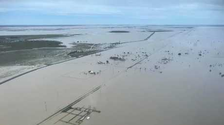 The Flinders is so swollen it's now 60km wide in places. Picture: Supplied.
