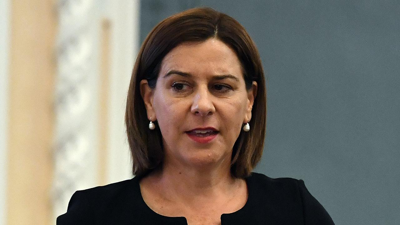 Opposition Leader Deb Frecklington in Question Time today. Picture: Dan Peled/AAP