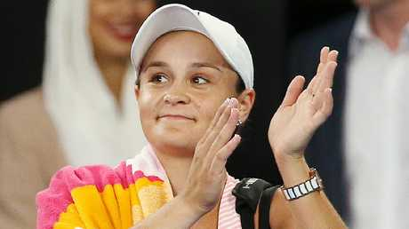 Ash Barty will return to the court at Indian Wells next month. Picture: Michael Klein