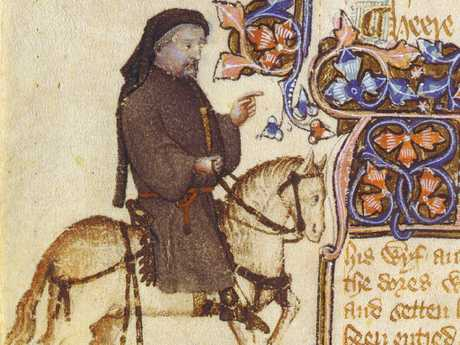 Scholars believe Geoffrey Chaucer was the mastermind behind Valentine's Day. (AP Photo/Huntington Library).