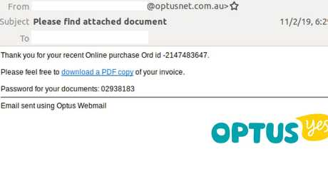 The format of these latest Optus emails is similar, with most appearing in plain-text form and the logo appearing at the top.