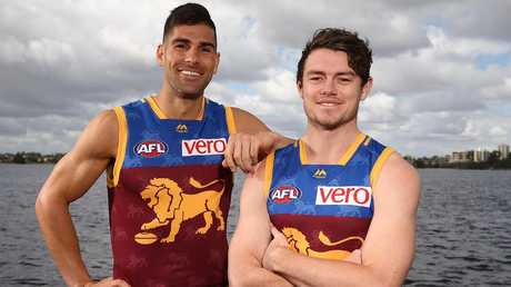 Brisbane recruits Marcus Adams and Lachie Neale.