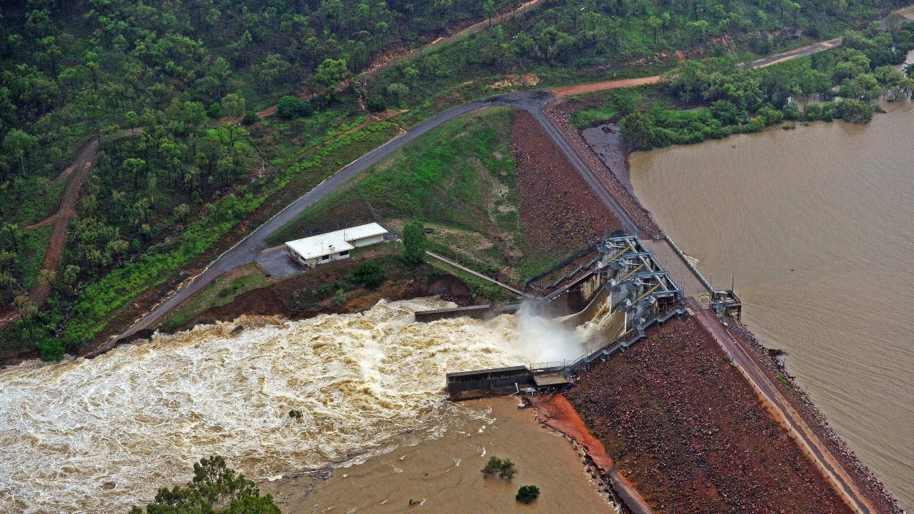 Ross River Dam was fully opened during the Townsville floods. Picture: Zak Simmonds