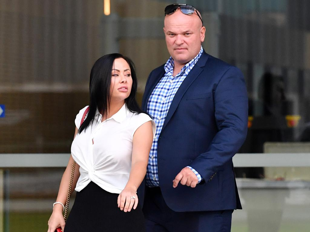 Ivan Tesic leaves court with his partner. Picture: AAP Image/Darren England