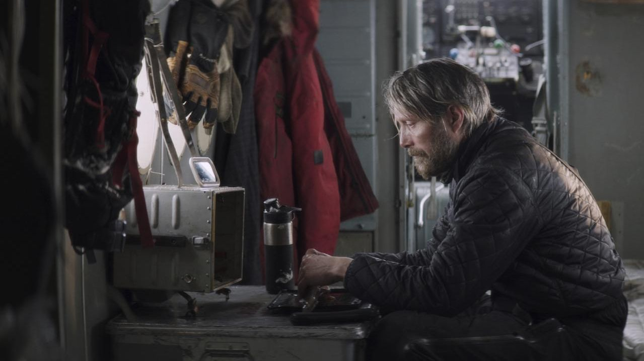 Mads Mikkelsen in a scene from Arctic.