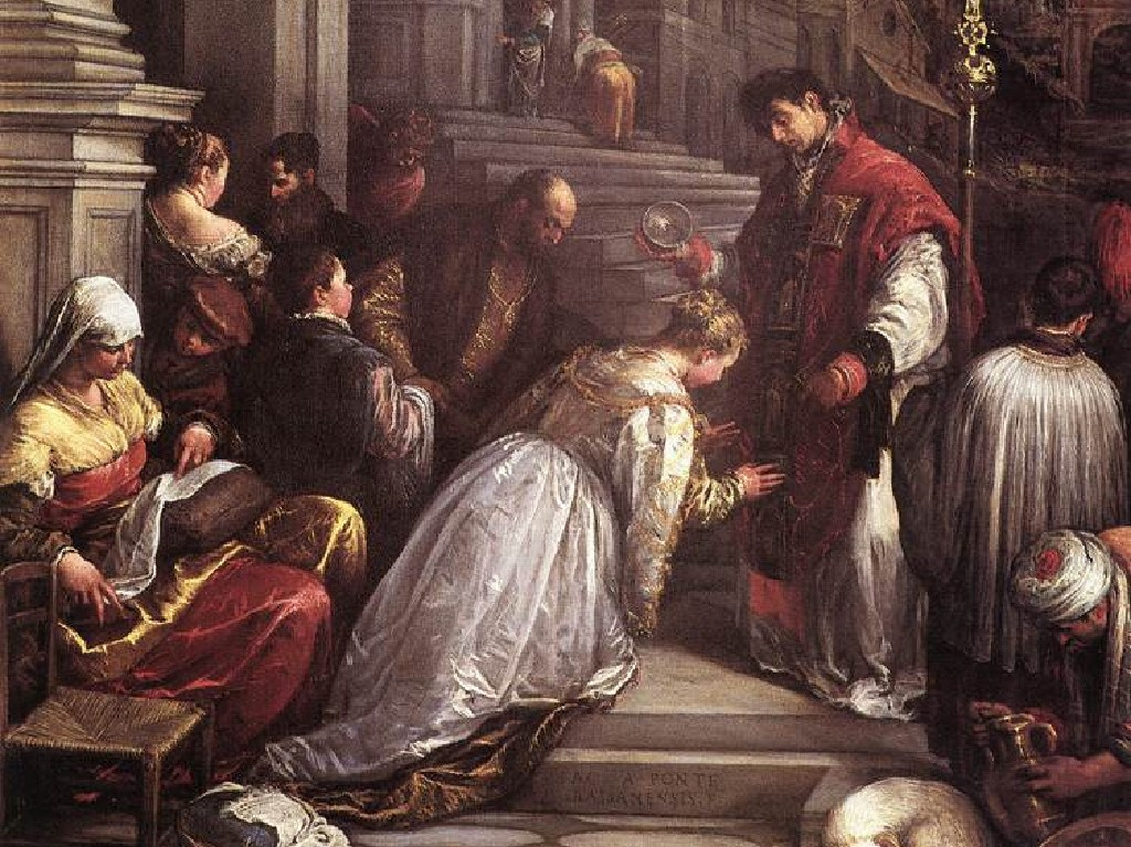 Legend claims St Valentine performed weddings in secret before being sentenced to death.