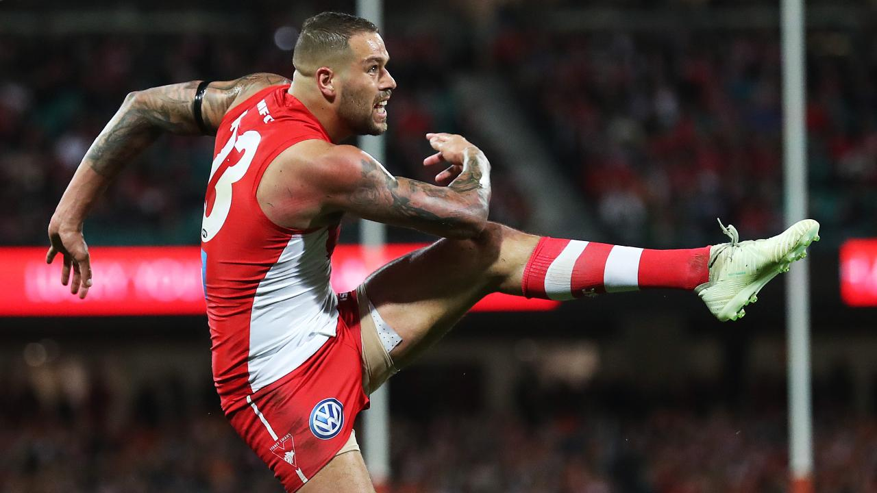 Lance Franklin in action last year. Picture: Phil Hillyard