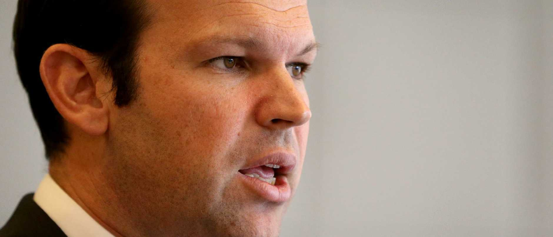 Australian Resources Minister Matt Canavan. Picture: AAP/Kelly Barnes